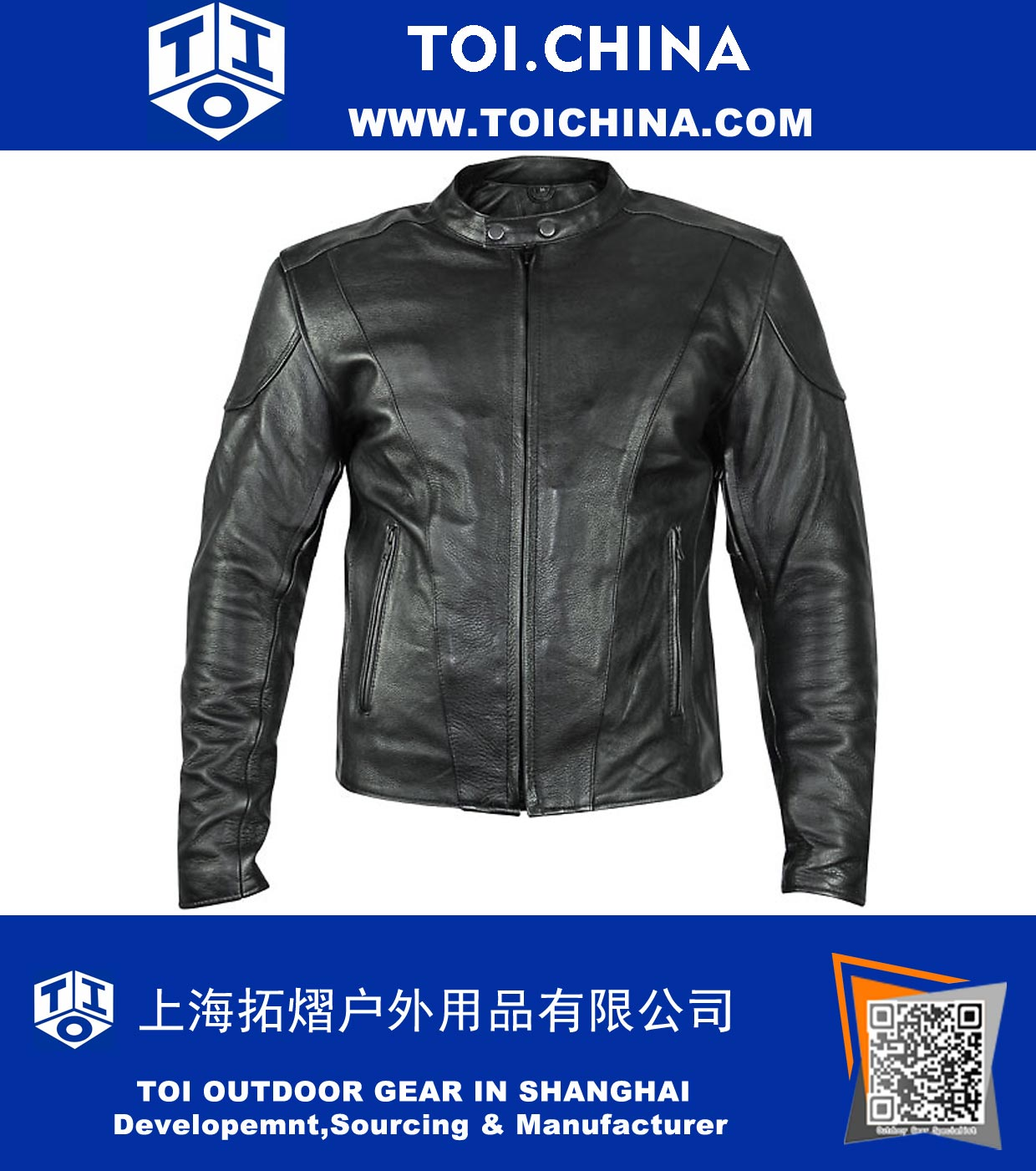 Mens Motorcycle Leather Jacket, ST-MC001