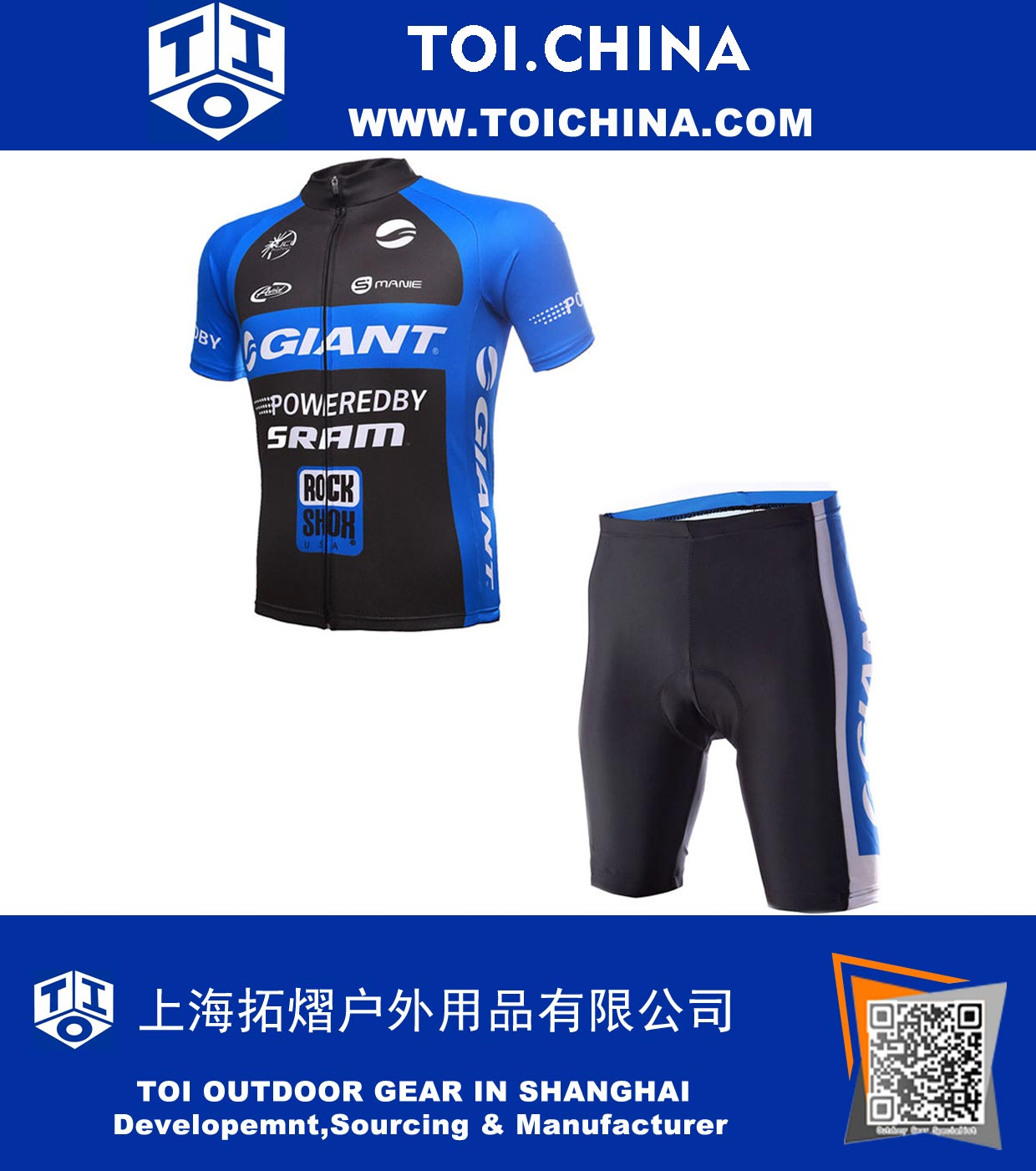 a97733005 TOI.China  Outdoor Sport Dry lyhythihainen Giant Cycling Miesten ...