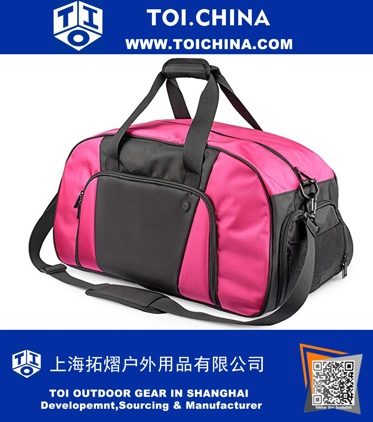 0a997c808754a8 Sport Duffel Gym Bags Totes Luggage with Shoes Compartment, ST-HQ002 ...