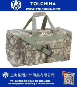 21 Inch Heavy Duty Camo Tote Bag Water Resistant Gym Duffle Hunting Shoulder Gear