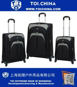 3-Piece Expandable 4 Wheel Spinner Luggage Set