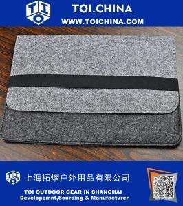 Cadeau d'anniversaire, sac gris, manchon ordinateur portable Feutre
