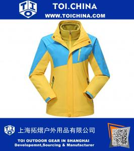 Bright Contrast Color Outdoor Windproof and Waterproof 3 in 1 Jacket