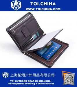 Microfiber cas de portefeuille en cuir dans le café pour Galaxy Note Pro 12.2