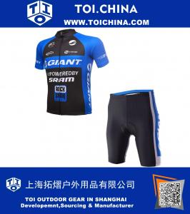 Outdoor Sport Quick Dry short Sleeve Giant Cycling Mens Jersey pants Clothing