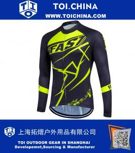 Quick Dry Cycling Jersey Clothes Long Sleeve Spring Autumn Men's Shirt Bicycle Wear Breathable MTB Road Top Clothing