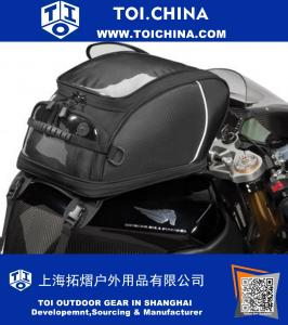 Rapid Transit Commuter Expandable Strap Mount Motorcycle Tank Bag