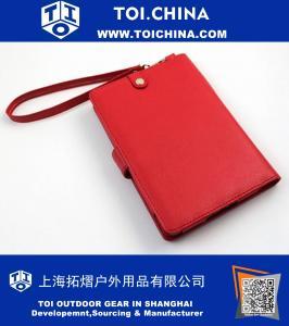 Caso Cartera roja con doble compartimentos internos