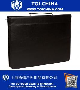 Zippered Portfolio with Handle by Trademark Innovations