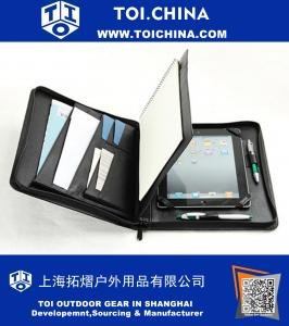 iPad Air 2 imprese che trasportano Zipper Custodia Folio con rilievo del supporto di carta